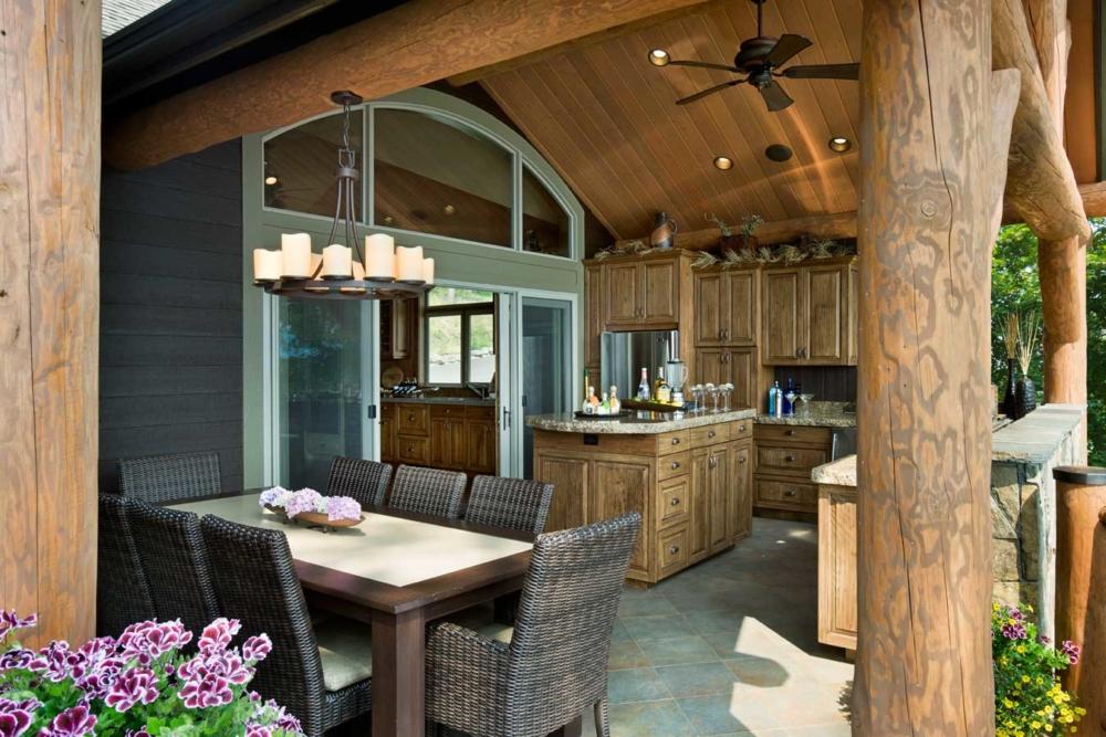 flathead lake retreat kitchen dining