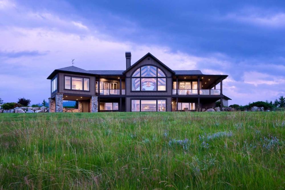 Montana custom home builder award winning greg bain for Home builder company