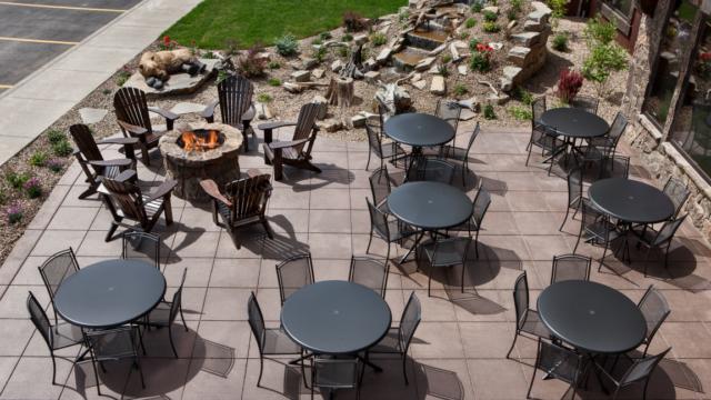 outside patio seating area