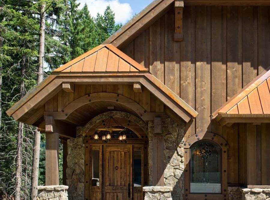 rustic elegance entrance