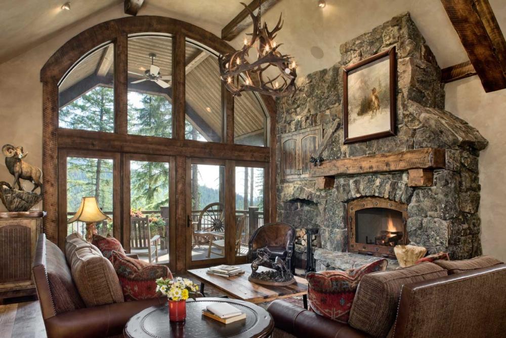 rustic elegance great room