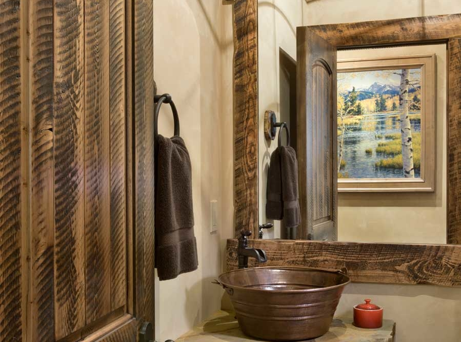 rustic elegance guest powder room