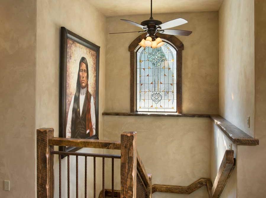 rustic elegance hallway