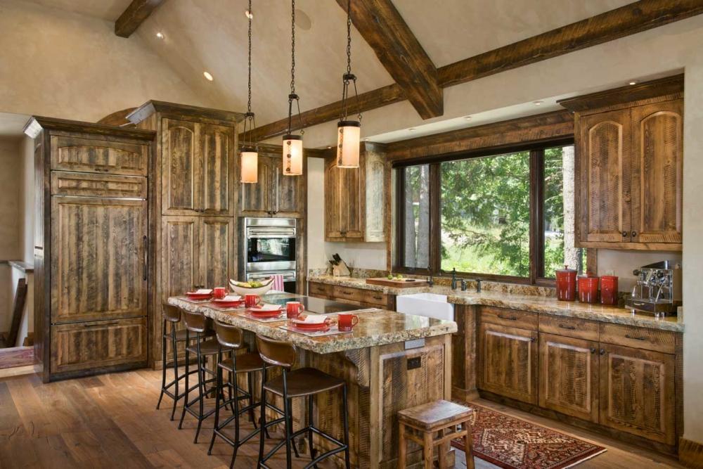 rustic elegance kitchen bar