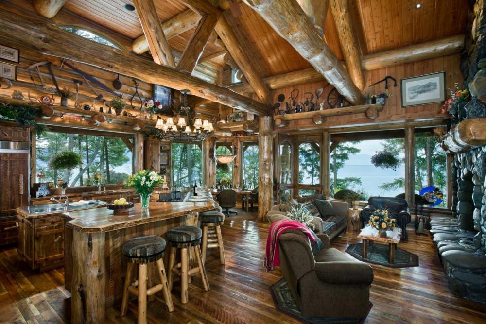 eagles cove kitchen living area