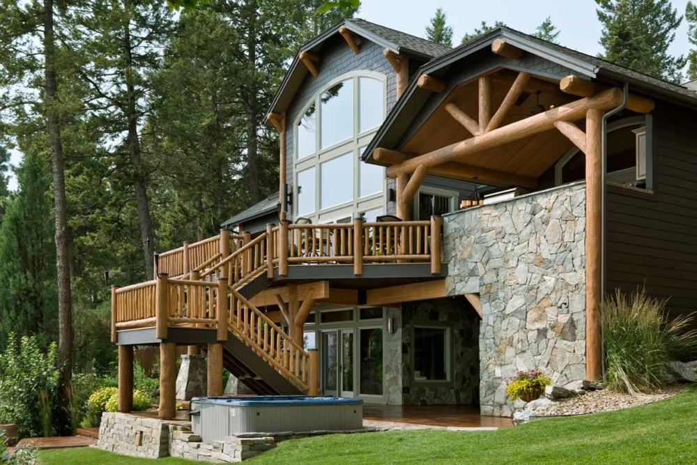 flathead lake retreat custom home lakeside montana