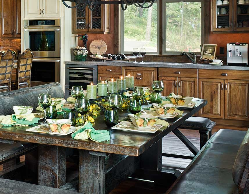 flathead lake retreat dining table