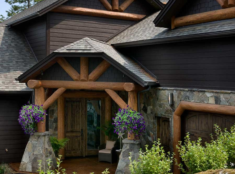 flathead lake retreat front entry