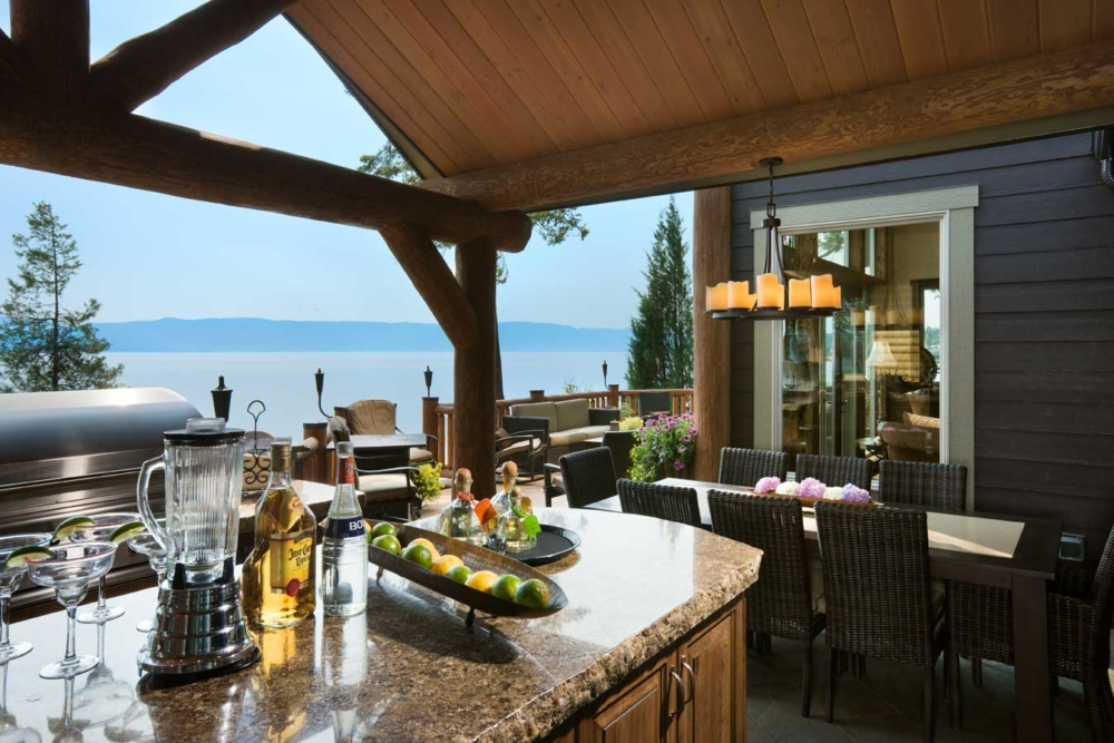 flathead lake retreat outdoor dining