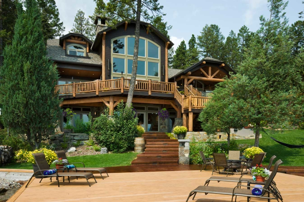 flathead lake retreat waterfront deck