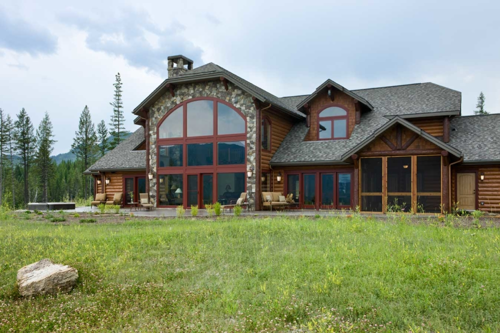 mountain rose custom home whitefish montana