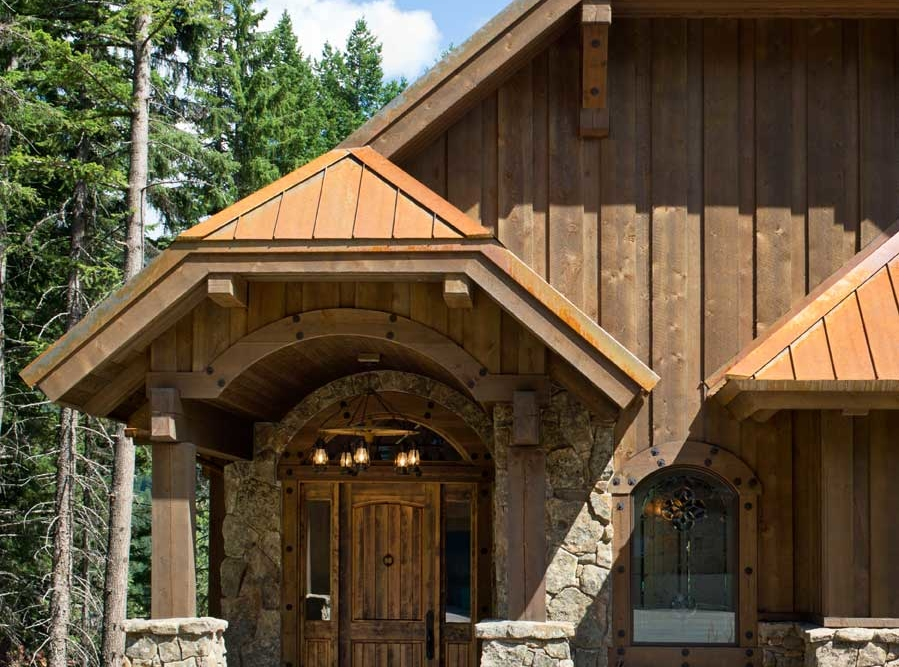 rustic elegance entrance