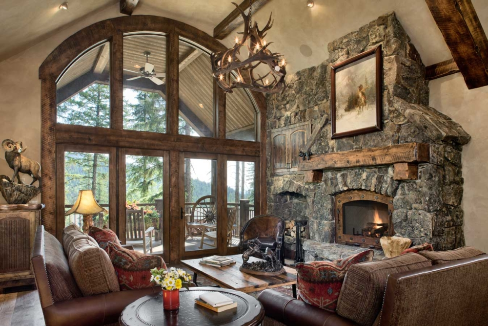 rustic elegance great room