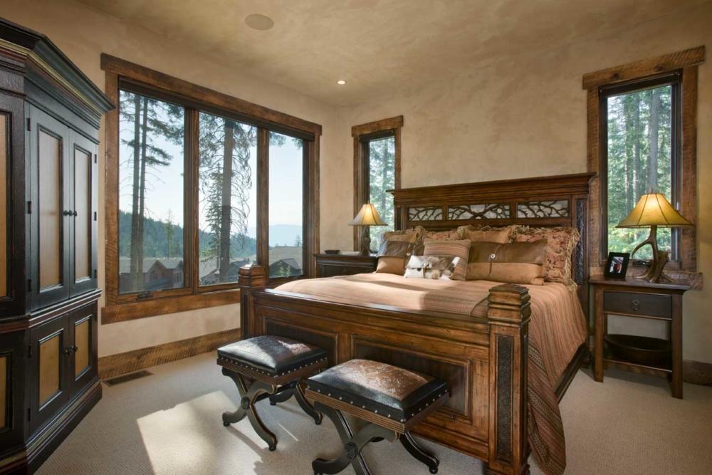 rustic elegance guest master bedroom