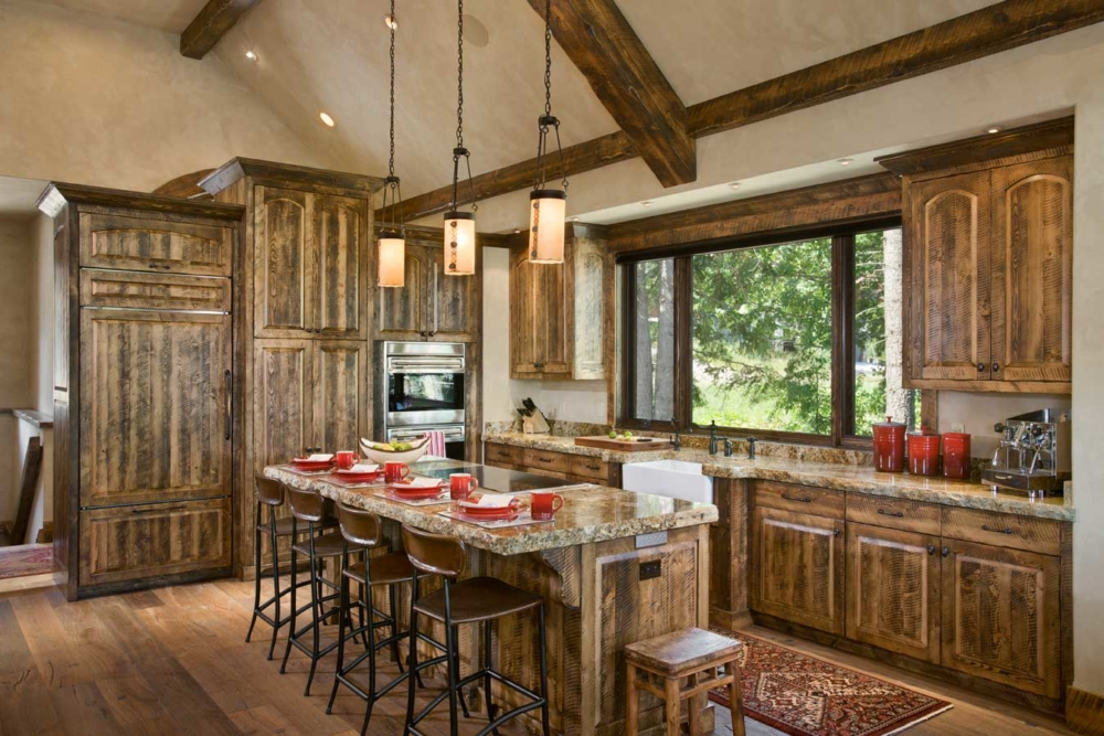 rustic elegance kitchen bar